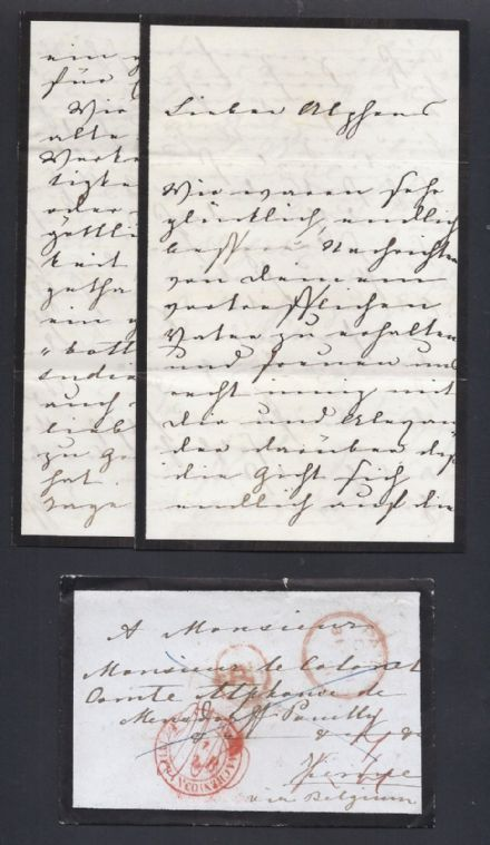 Prince Albert Prince Consort Signed Letter New Year's Eve 1851 - Politics, Gout